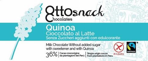 Cioccolato Ottosnack Latte Senza Zucchero con Quinoa 100 grammi