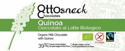 Cioccolato Ottosnack Latte con Quinoa 100 grammi